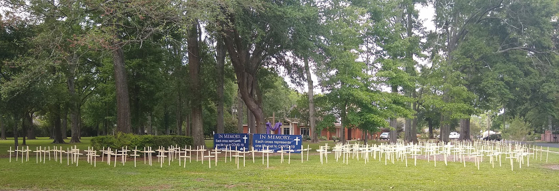 COVID-19 Crosses at St. John's UMC in Baton Rouge